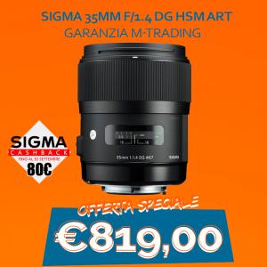 Sigma 35mm f/1.4 DG HSM Art – Garanzia M-Trading – CASHBACK 80€