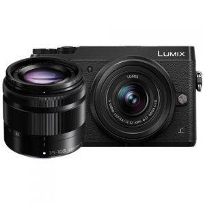 Panasonic Lumix GX80 12/32 F 3.5-5.6 II OIS + 35/100 mm Black Garanzia 4 anni Fowa Italia