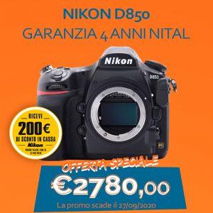 Nikon D850 – Garanzia 4 anni Nital – SCONTO IN CASSA 200€
