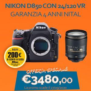 Nikon D850 con 24/120 VR – Garanzia 4 anni Nital – SCONTO IN CASSA 200€