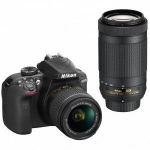 NIKON D3400+18-55mm VR+70-300mm Garanzia 4 anni Nital Italia