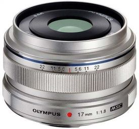 Olympus M.Zuiko 17mm f/1.8 Silver Garanzia Polyphoto Italia