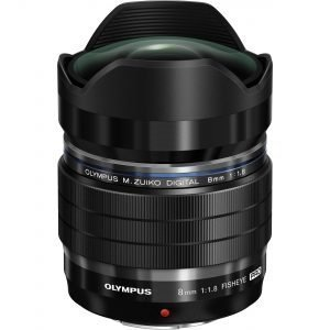 Olympus M.ZUIKO 8/1,8 Pro ED Fisheye Black Garanzia Polyphoto Italia