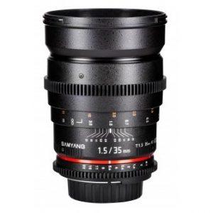 Samyang 35 mm T1.5 AS UMC – Cine Lens  Garanzia Fowa 5 anni (Attacco Canon)