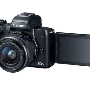 Canon EOS M50 BLACK + EF-M 15-45 mm – Garanzia Canon Italia