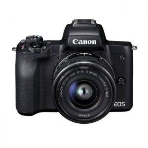Canon EOS M50 Black + EF-M 15-45 mm – Garanzia Canon Italia 2 anni