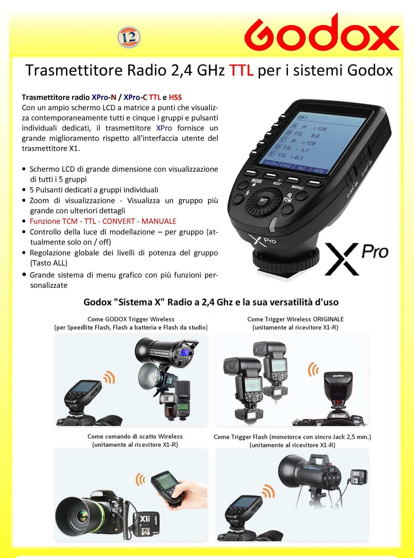 Godox Xpro Canon Fotododici Trigger For