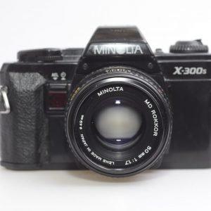 Minolta X-300s + 50 mm f 1.7