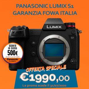 Panasonic LUMIX S1 – Garanzia Fowa Italia – Sconto In Cassa 500€