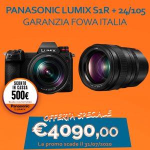 Panasonic LUMIX S1R + 24/105 – Garanzia Fowa Italia – Sconto In Cassa 500€