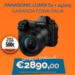 Panasonic LUMIX S1 + 24/105 – Garanzia Fowa Italia – Sconto In Cassa 500 €