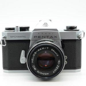 Pentax Spotmatic + Zenit 58 mm