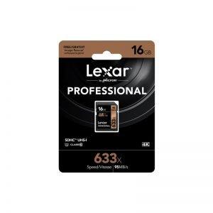 Lexar Scheda di Memoria SDXC Professional UHS-1, 633x, Classe 10 U3, 16 GB, Nero