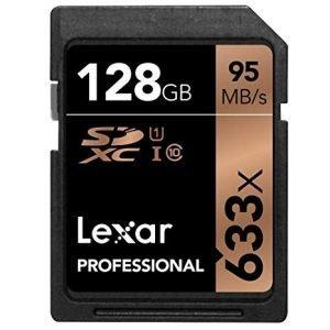 Lexar Professional Scheda di Memoria SDXC da 128 GB, 633x, UHS-1, Classe 10 U1, Nero