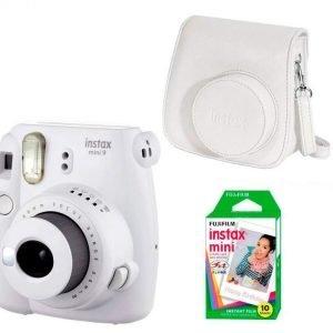 Fujifilm Instax Mini 9 Kit (Camera, Borsetta e Pellicola 10 Scatti) Bianco Fumo