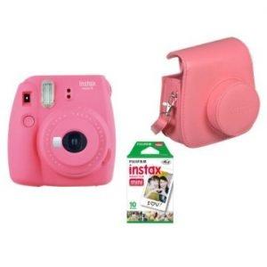 Fujifilm Instax Mini 9 Kit (Camera, Borsetta e Pellicola 10 Scatti) Rosa