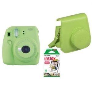 Fujifilm Instax Mini 9 Kit (Camera, Borsetta e Pellicola 10 Scatti) Verde Lime