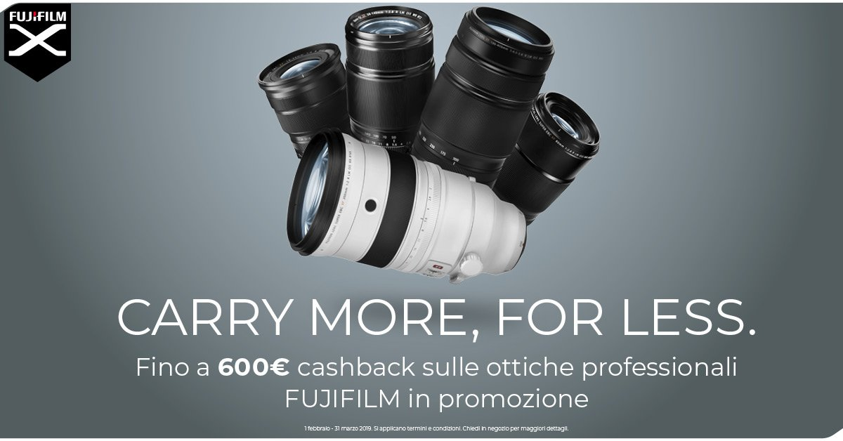 Fujifilm carry more, for less !