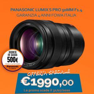 Panasonic Lumix S Pro 50mm F1.4 – Garanzia 4 anni Fowa Italia – Sconto in Cassa 500€
