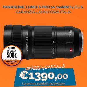 Panasonic Lumix S Pro 70-200mm F4 O.I.S. – Garanzia 4 anni Fowa Italia – Sconto in cassa 500€