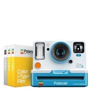 Polaroid OneStep2 Bianca e Azzurra con Viewfinder STARTER SET