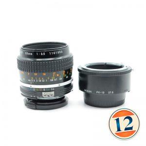 Nikon Micro 55mm f/3.5 AIs + pk 13