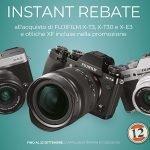 """Fujifilm – INSTANT REBATE"""" fino al 22 Settembre"""