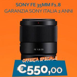 Sony FE 35mm F1.8 – Garanzia Sony Italia 2 anni