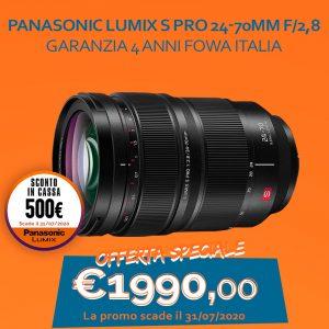 Panasonic Lumix S PRO 24-70mm f/2,8 Garanzia 4 anni Fowa Italia – Sconto In Cassa 500€