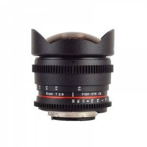 Samyang 8mm T3.8 Fish-eye CS – Garanzia Fowa Cine Lens