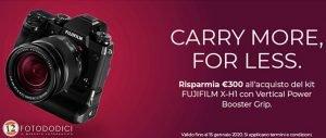 Fujifilm Instant Rebate X-H1 – Settembre/Gennaio 2020