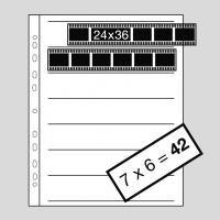 Kaiser Fogli Portanegativi 35 mm da 7 strisce per 6 negativi (100 fogli)
