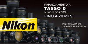 FINANZIAMENTO TASSO 0 NIKON FOR YOU