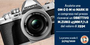 Olympus E-M10 Mark III con 45 f 1.8 …. in Omaggio !