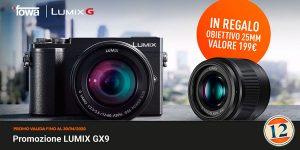 Panasonic GX9 + Obiettivo 25mm f1.7 in omaggio