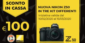 Nikon Serie Z50 sconto in cassa -100€