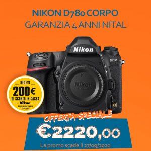 Nikon D780 CORPO – Garanzia 4 anni Nital – SCONTO IN CASSA 200€