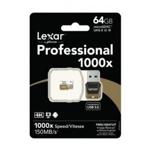 LEXAR – 32/64GB  MICRO SD 1000X