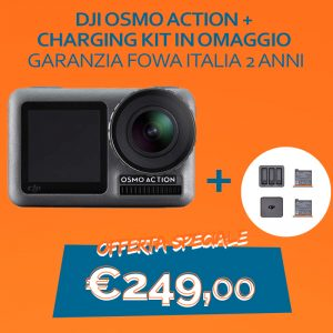 DJI Osmo Action + Charging Kit in Omaggio  Garanzia Fowa italia 2 anni