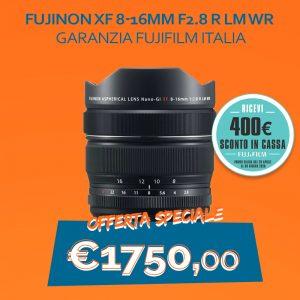 Fujinon XF 8-16mm F2.8 R LM WR – Garanzia Fujifilm Italia