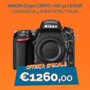 Nikon D750 – Garanzia 4 anni NItal Italia