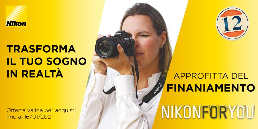 Nikon For You Finanziamento Nital Interessi Zero banner