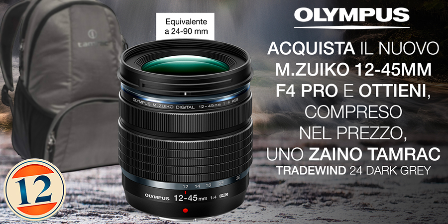 Olympus M.Zuiko Digital ED 12-45mm – Zaino in Omaggio