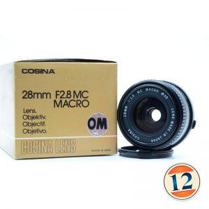 Cosina 28mm f 2.8 macro olympus OM ( Nuovo )