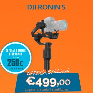DJI Ronin S – Risparmia 250 Euro