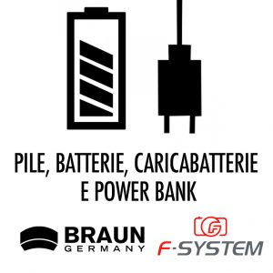 PILE - BATTERIE - CARICABATTERIE - POWER BANK