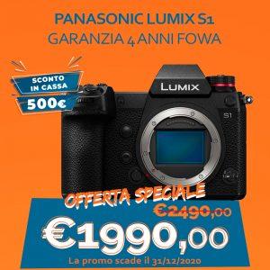 Panasonic LUMIX S1 – Garanzia 4 anni Fowa – Sconto in Cassa 500€