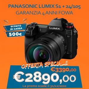 Panasonic LUMIX S1 + 24/105 – Garanzia 4 anni Fowa