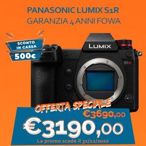 Panasonic LUMIX S1R – Garanzia 4 anni Fowa – Sconto in Cassa 500€