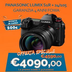 Panasonic LUMIX S1R + 24/105 – Garanzia 4 anni Fowa – Sconto in Cassa 500€